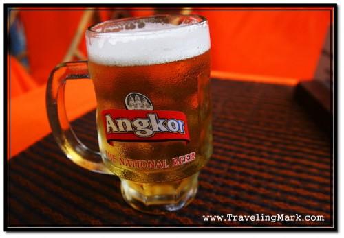 Photo: Fresh Glass of Angkor Draught