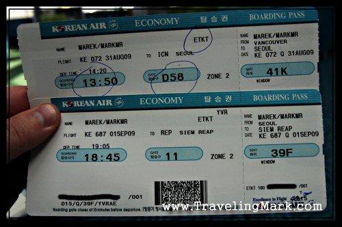 Korean Air Boarding Passes