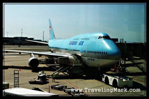Double Decker Boeing 747-400 by Korean Air