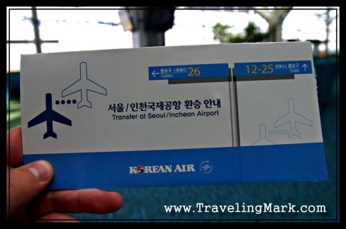 Korean Air Boarding Passes Came in a Shiny Package