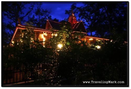 View of Preah Ang Chek Preah Ang Chorm Shrine Through Trees of Royal Independence Gardens
