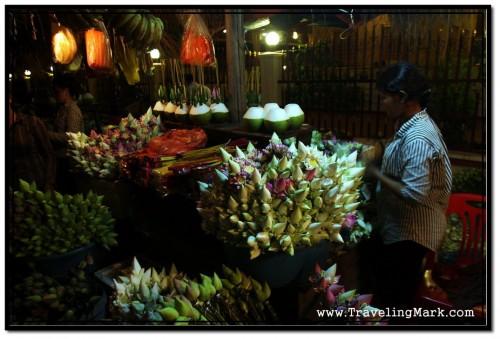 Street Vendors by Royal Independence Gardens After Dusk