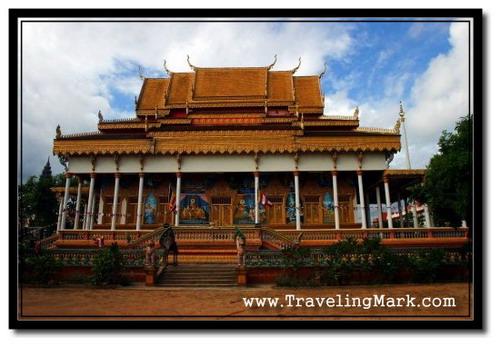 Photo: Wat Keseram in Siem Reap - The Pagoda of Cornflower Petals