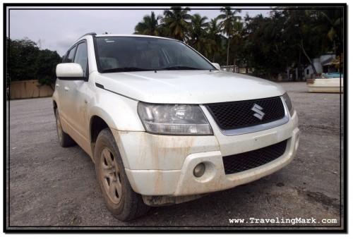 Photo: White Suzuki Grand Vitara Rental Car I Was Driving When I Had My Laptop Stolen