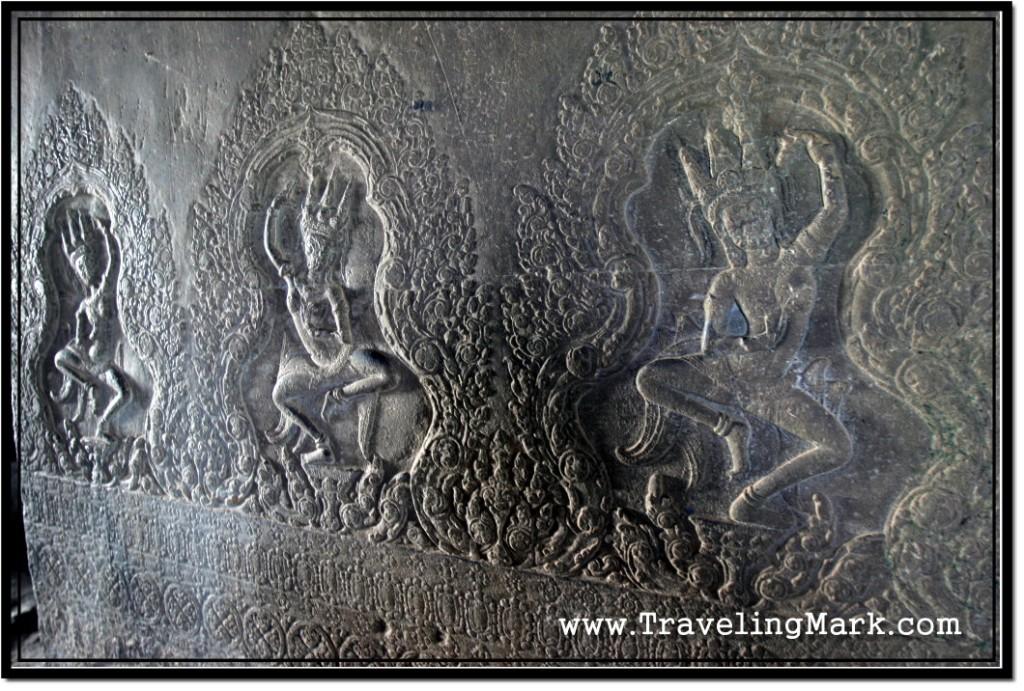 Photo: Carvings of Apsaras also Known as Devatas