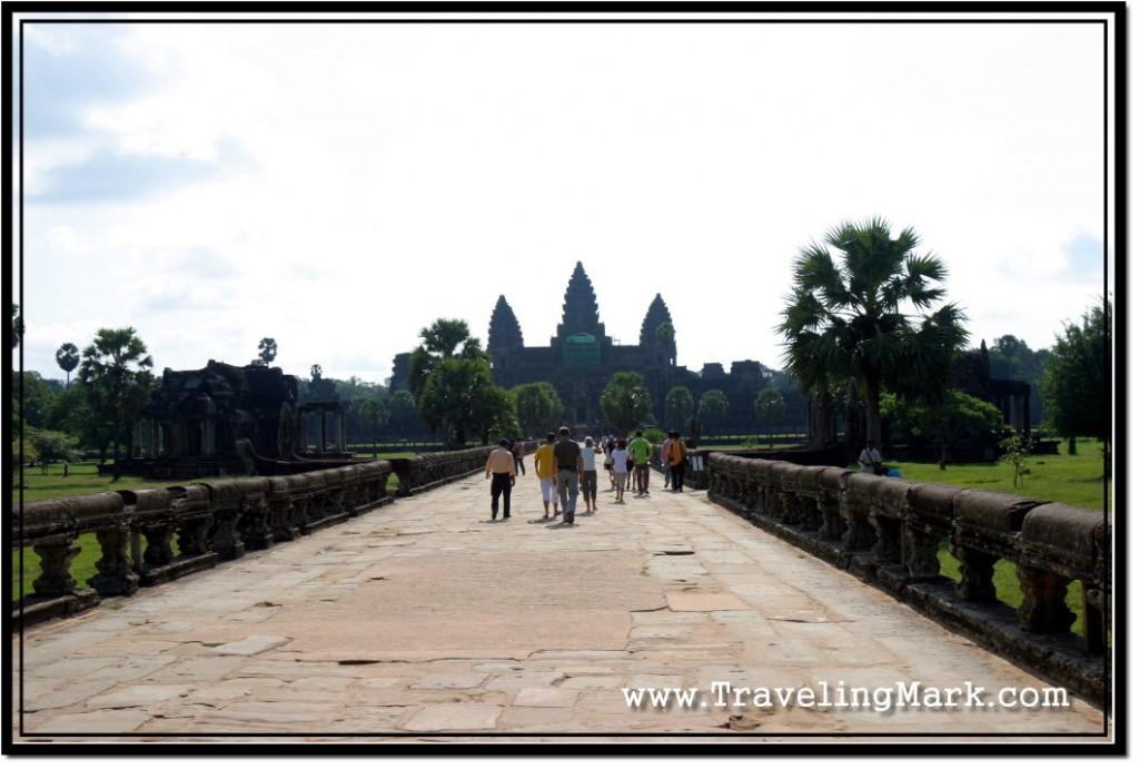 Photo: Main Causeway to Angkor Wat in Morning Light