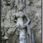 Photo: Badly Damaged Carving of an Apsara Dancer