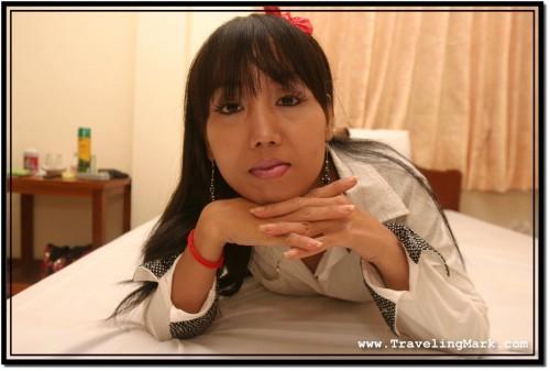 Photo: Vietnamese Girl Ha on the Evening We Met Wearing Makeup