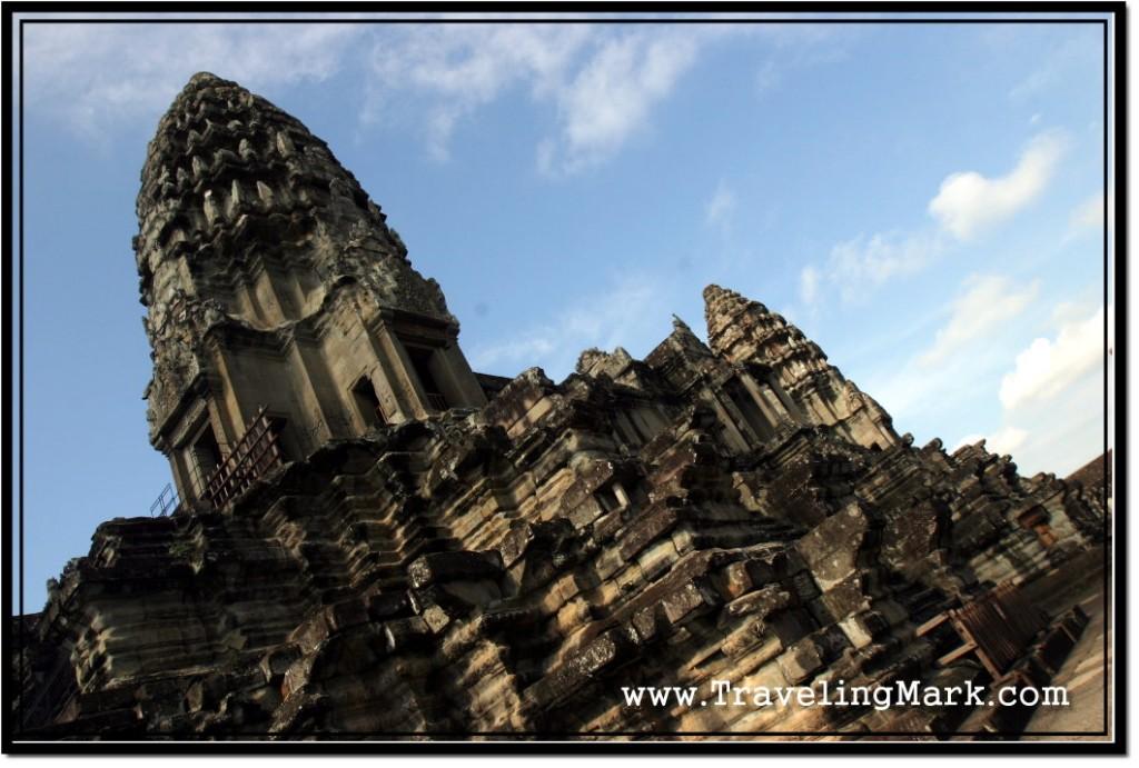 Photo: Angkor Wat Towering Towards Blue Cambodian Sky