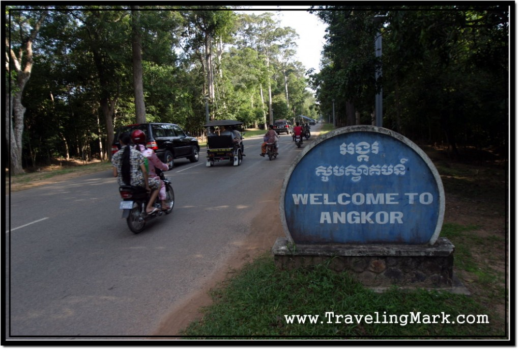 Photo: I Was This Close to Angkor Wat, But From Here You Can't See Any Temples, Only Lots of Locals Riding In and Out