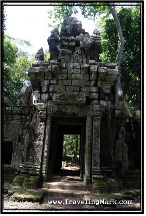 Photo: Angkor Thom Royal Palace Area Northern Wall Gopura