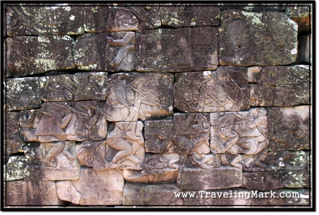 Photo: Bas Reliefs on the Interior Corridor of Bayon