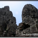 Photo: Bayon Central Sanctuary on the Left, Face Tower on the Right