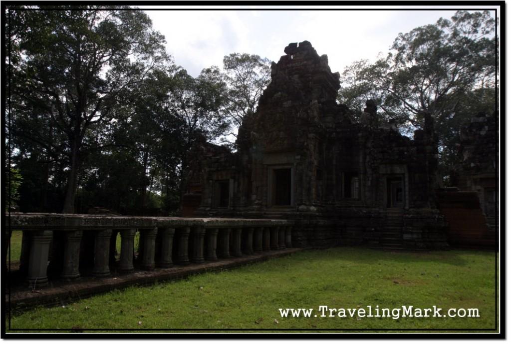 Photo: Stone Bridge on Stilts Dominates the Chau Say Thevoda Temple