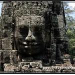 Photo: Carved Decoration Around the Head of King Jayavarman VII aka Lokiteshvara