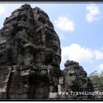 Photo: Free-Standing Bayon Face Tower at Angkor Thom, Cambodia
