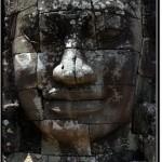 Photo: Faces Bearing Full Lips of Khmer King Jayavarman VII at Bayon