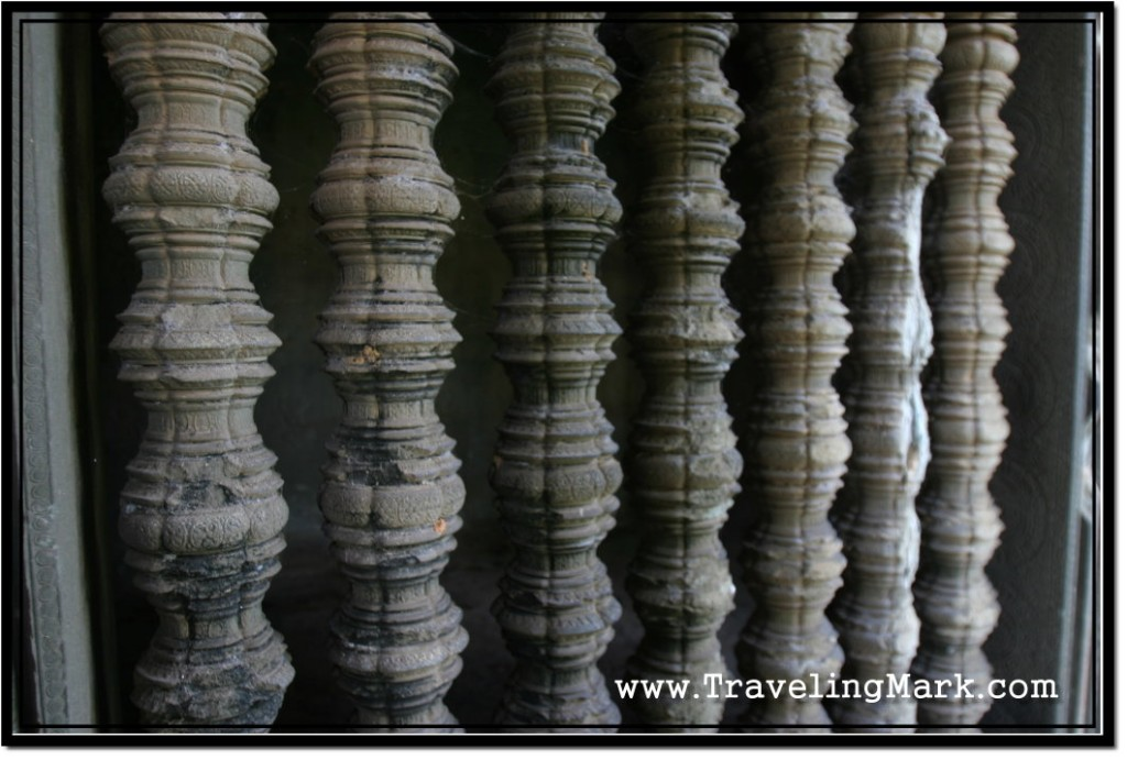 Photo: Lathe Turned Decorated Windows on Angkor Wat - Exterior Wall
