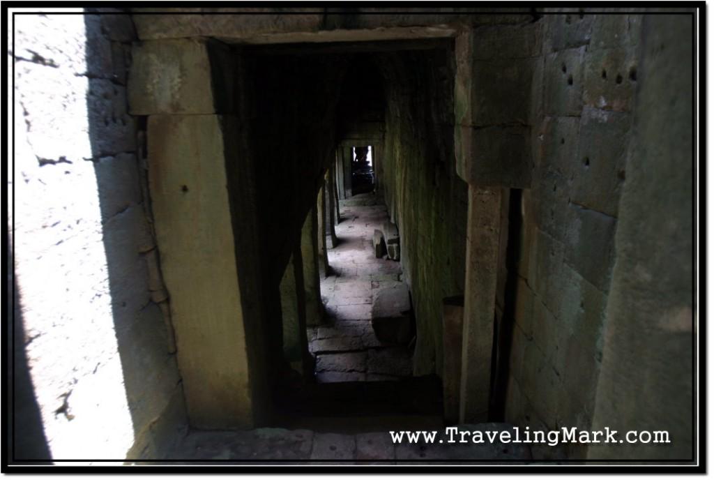 Photo: Long Corridor at the Second Level of Bayon