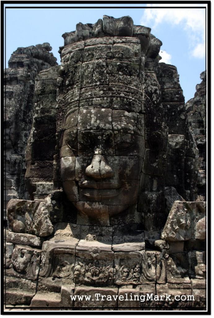 Photo: Lotus Shaped Face Tower Adorning Bayon Temple