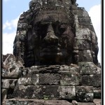 Photo: Bayon Face Tower with More Serious Facial Expression