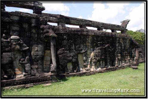 Photo: Naga Balustrade on Top of the Terrace of the Elephants