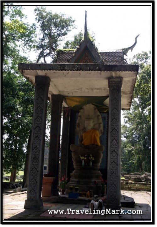 Photo: Original Buddha Image from Bayon Now Calls Vihear Prampil Loveng Its Home