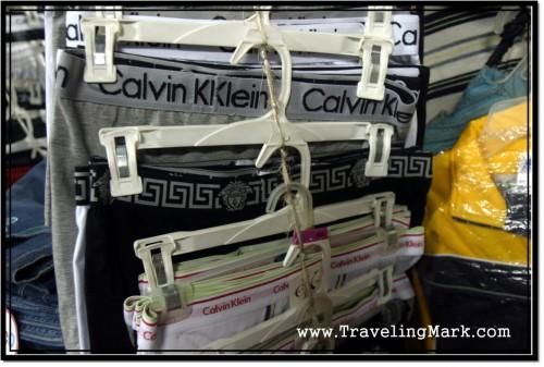 Photo: Cambodian Underwear Shop Selling Fake Calvin Klein Underpants
