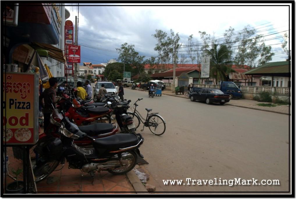 Photo: Motorcycles Blocking the Sidewalk in Siem Reap