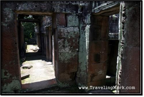 Photo: Collapsed Corridors of Banteay Kdei
