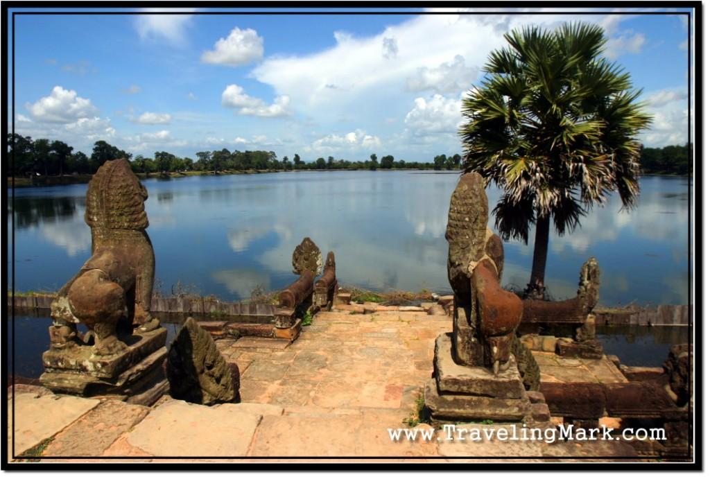 Photo: Sras Srang Boat Platform with Stone Lions and Naga Balustrades