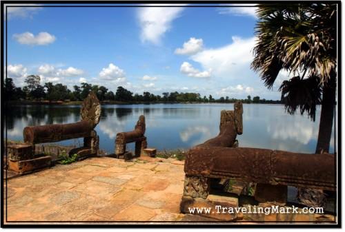 Photo: Sras Srang Water Reservoir at Angkor, Cambodia