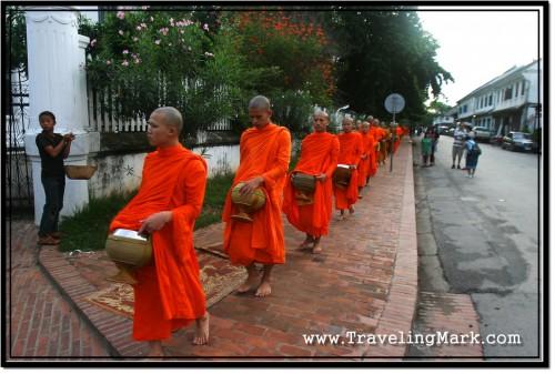 Photo: Barefoot Monks at Luang Prabang, Laos