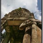 Photo: Stone Guardian at the South Entrance to Preah Khan, Angkor, Cambodia