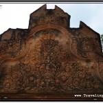 Photo: Intricately Carved Pediment Above the Entrance to Banteay Srei