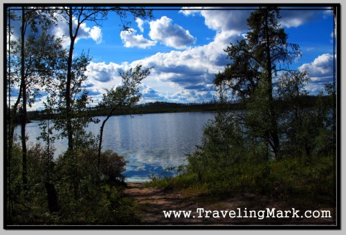 Photo: Remote Lake in Northern Alberta Where I Lived As a Recluse
