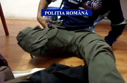 Photo: Screenshot from a YouTube Video Posted by the Romanian Police Who Filmed an One Legged Gypsy Beggar