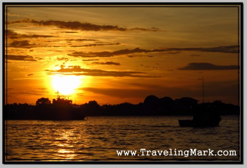 Photo: View of the Sunset from the Kota Kinabalu Fishing Harbor