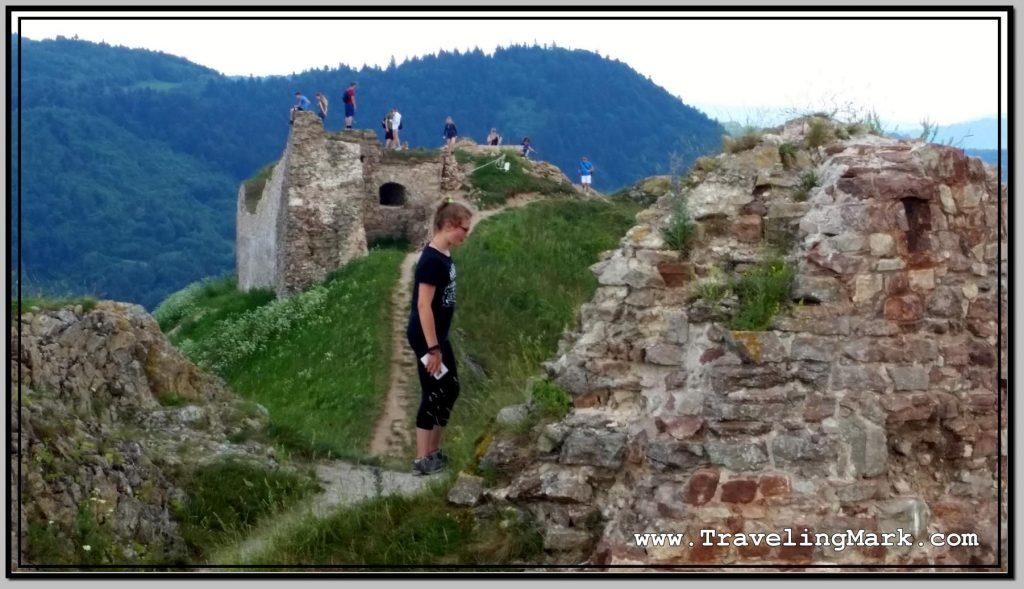 Ruins of Kamenica Castle in Eastern Slovakia (Kammenicky Hrad)