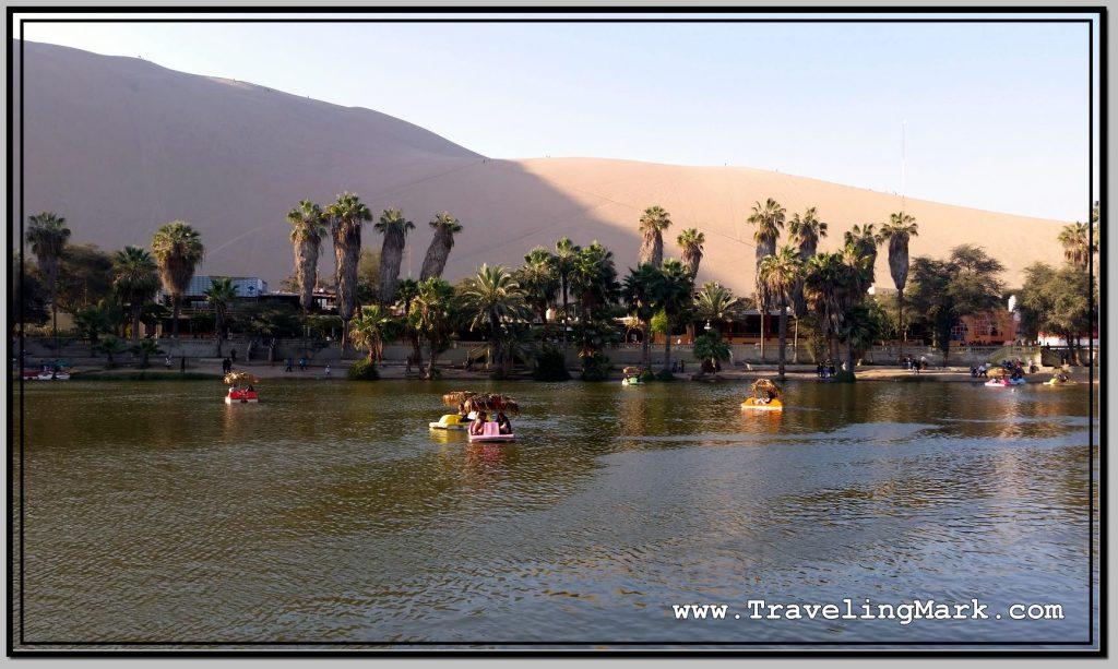 Photo: Boats on Huacachina Lagoon