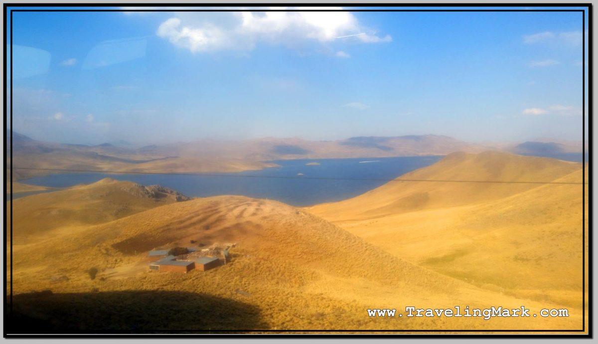 Photo: View of Laguna Langunillas from Bus to Puno