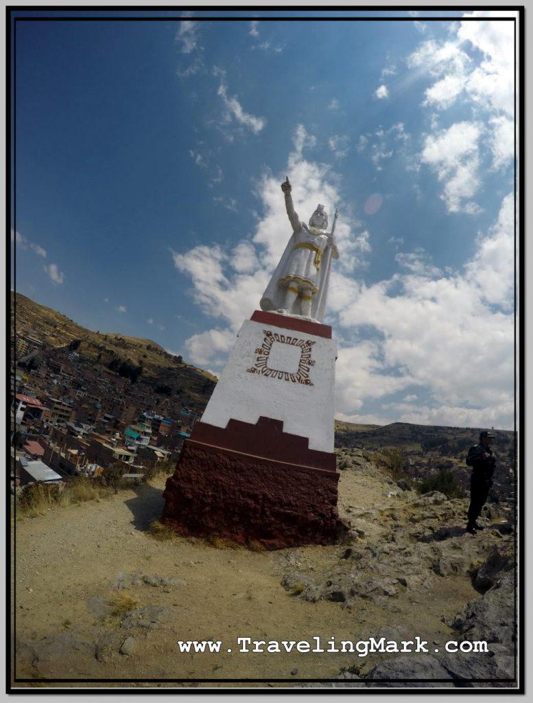 Photo: Statue of Manco Capac on Cerrito de Huajsapata