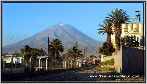 Photo: Misti Mountain Towering Over Arequipa
