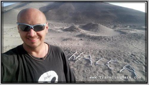 Photo: Nazca Sign Built from Sun Bleached Bones