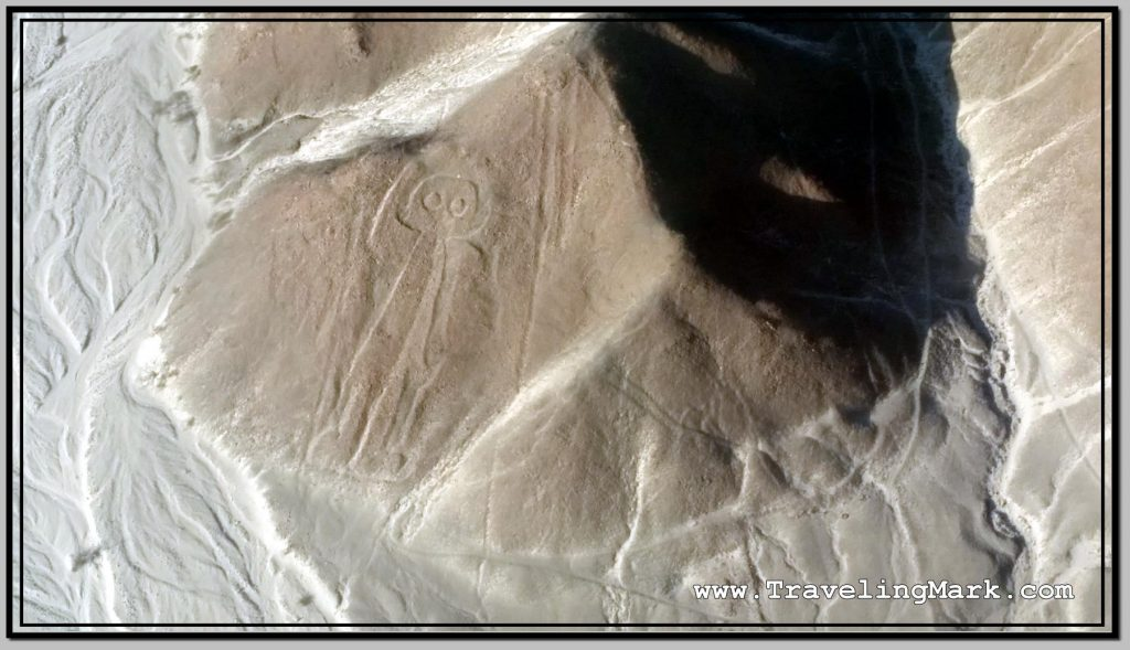 Photo: Geoglyph of Astronaut (Astronauta) Is on a Sloped Hill