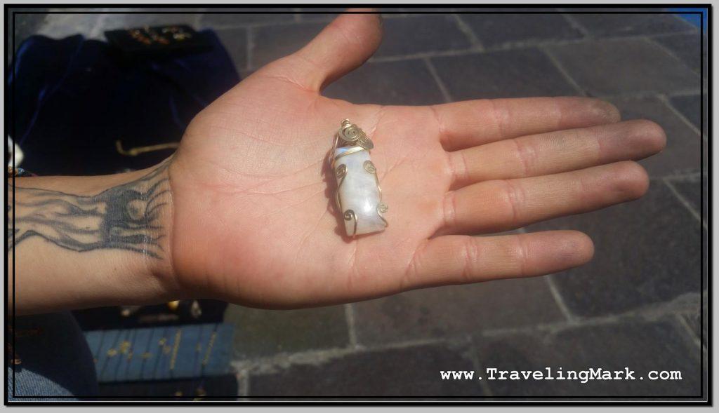 Photo: Piedra de Luna in Custom Copper Encasing
