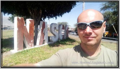 Photo: Traveling Mark at City Sign of Nasca