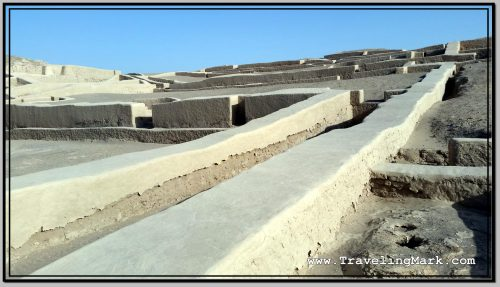 Photo: Walls of Ceremonial Center of Nazca Culture at Cahuachi
