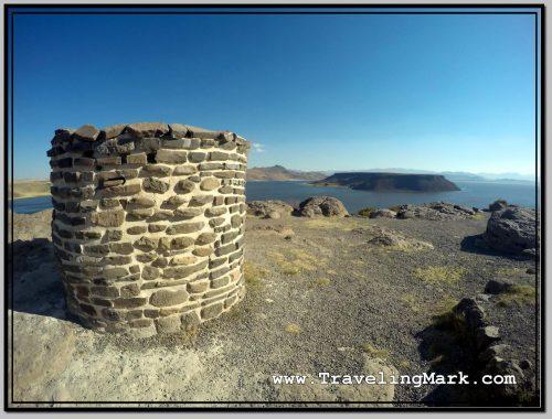 Photo: Chullpa with Umayo Island Inside the Lagoon