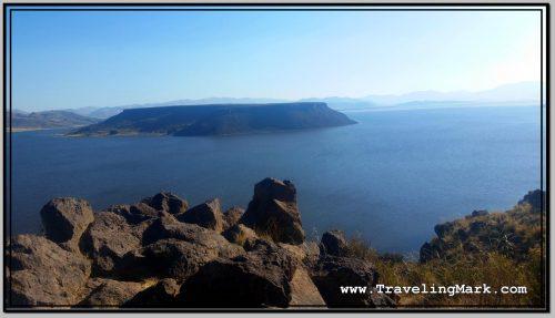 Photo: Flat Top Island on Lake Umayo